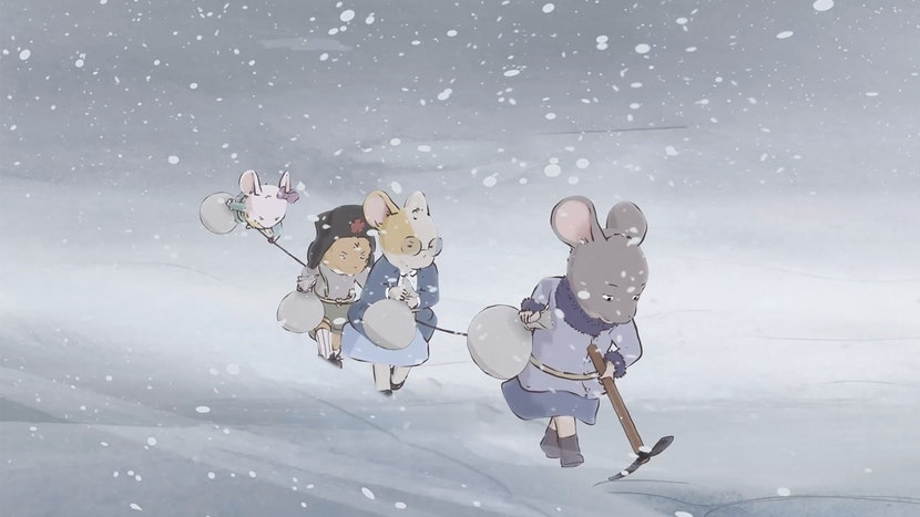 Image from Ernest and Celestine – The Blizzard, Dir Jean-Christophe Roger, Julien Chheng