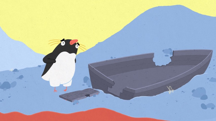 Image from The Penguin Who Couldn't Swim, Dir Tom Rourke